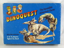 Dinoquest 1989 Second Edition Board Game 95% Complete Excellent Rare