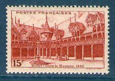 TIMBRE N° 539 NEUF ** GOMME ORIGINALE - HÔTEL-DIEU DE BEAUNE
