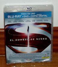 EL HOMBRE DE ACERO-MAN OF STEEL-BLU-RAY+DVD-PRECINTADO-NUEVO-NEW-SEALED-ACCION