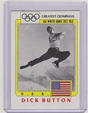 """SUPER RARE 1983 """"BLACK RING"""" OLYMPIC DICK BUTTON FIGURE SKATING CARD #55"""