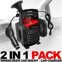 Support Voiture + Chargeur de voiture pour différent Blackberry modèles