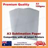 100 Sheets Quality A3 Dye Sublimation Paper Desktop Inkjet Printer Heat Transfer