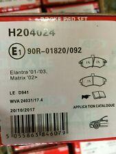 Hyundai Elantra - Matrix > Front brake pad set