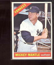 1966 Topps Mickey Mantle #50 YANKEE BASEBALL Card pack fresh colors Sharp colors