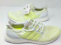 Adidas Ultra Boost Clima White 'Solar Yellow' Running [AQ0481] Men's Size 10.5