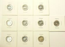 1967 Canada 10 Cents Silver Lot of 10 Uncirculated from Roll #7094