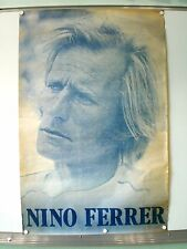 NINO FERRER AFFICHE ORIGINALE TRES RARE (1979) FREE BIRD