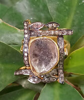 Ring Natural Pave Diamond 925 Sterling Silver Fine Gift Her Jewelry SE