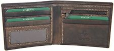 Visconti Oil Brown Leather Bifold 2 Note Compartment Wallet & Zip Purse - 707
