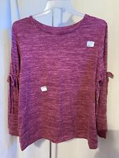 Time and Tru Maternity Size 2XG (20) Pink Tie Drawstring Sleeve Sweater Top NWT