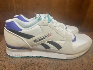 DS Reebok GL 6000 Chalk/White/Black/Purple/Teal M45405 Men's US Size 13 BNIB NWT