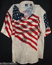 Declaration of Independance American Flag Patriotic Pride USA Shirt Men's L
