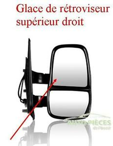 GLACE DE RETROVISEUR SUPERIEUR DROITE DROIT IVECO DAILY A PARTIR DE 2006 T5150