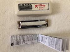 Vintage Marine Band M. Hohner No. 1896 Harmonica Key C Germany Hard Plastic Case