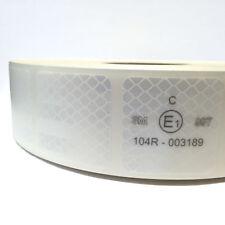 1m Diamond Grade 997-S / UN ECE R 104 / Reflexfolie weiß LKW Planen / Geocaching