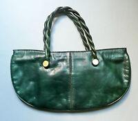 Borsa in pelle verde anni '60 vintage leather bag