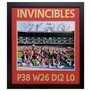 The Invincibles Team Arsenal Signed Framed Iconic Photograph with 8 Signatures