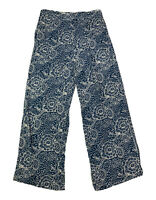 Anthropologie Maeve Women's Size Small S Wide-Leg Floral Elastic Waist Pants