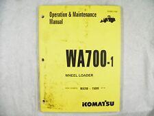 KOMATSU WA700-1 OPERATION AND MAINTENANCE MANUAL 15000-UP