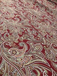 Home Textiles Egyptian Cotton Duvet Cover Red Paisley Print Size Queen/Full