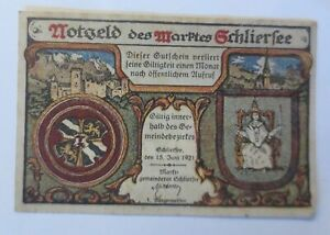 Notgeld des  Maktes Schliersee,  10Pf, 18 Juni 1921  ♥