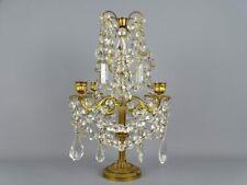 Grande girandole pampilles style Louis XV 5 bras de lumières Métal doré 19 thc