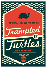 Scrojo Trampled by Turtles Honeyhoney Belly Up Aspen 2013 Poster Trampled_1301