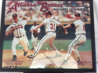 Atlanta Braves Cy Young Winners Poster signed by John Smoltz