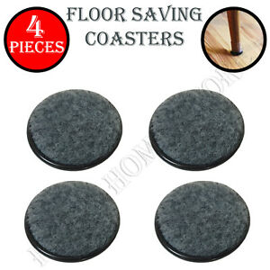 4 Pieces Grey Floor Furniture Protector Coasters Felt Backed for Chair Table