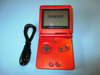 Nintendo Game Boy Advance SP Flame Red System w/Charger FREE Shipping!