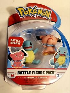 Pokemon Battle Figure Squirtle & Snubbull Battle Ready-New Sealed- Free Shipping