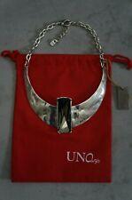 NWT UNO De 50 Silver Swarovski Crystal OSIRIS Short Retired Necklace RP $550