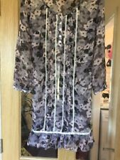 Changes By Together Size 12 Long Top /Or Dress In Grey And Pink Floral Pattern,