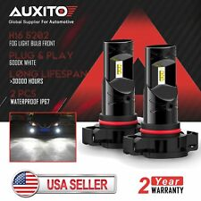 2X AUXITO 5202 LED Fog Light Bulb For Chevrolet Silverado 3500 HD 2500HD 2012-18