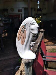 "Navajo Woman Figure Statue Sculpture 19"" Hozho Art Deco Native American 70s-80s?"