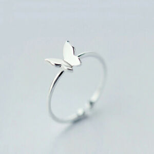 Retro Minimalist For Women Personality Feather But Finger Ring Girl Jewelry Gift