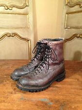 Vintage Linesman Engineering Hiking Military Boots 1970's Goodyear Sole Mens 8.5