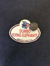 Disney Cast Exclusive Name Tag Dumbo Flying Elephant 40 Years Le 1000 Pin