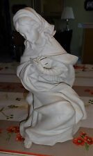 LLADRO -- VIRGIN MARY -- 1387.3 -- FROM MATTE  WHITE NATIVITY SET -- SIGNED