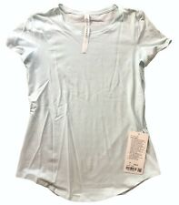 NWT LULULEMON LOVE CREW Tee size 4 Sheer Blue Pima Cotton Relaxed Fit Run Yoga