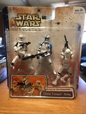 STAR WARS CLONE TROOPER ARMY Clone Wars Figures BLUE Variant MOC COMPLETE 2003