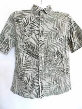 New Hawaiian Style Short Sleeve Men's Shirts - Color: Olive Green - Size: S