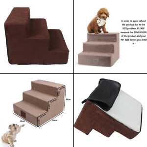 New 3 Steps Dog Stairs for High Bed Foam Pet Ramp Ladder for Cats Dogs Easy Step