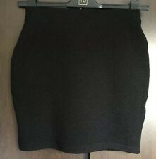 New Look Black Stretch Textured Short Skirt Tube Size 10