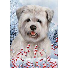 Winter House Flag - Blue Glen of Imaal Terrier 15214