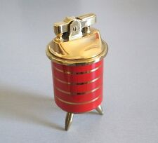 Table Lighter 50er Jahre Benzin Feuerzeug Tripod Mid Century Design Brass 1950s
