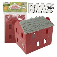 BMC WW2 Bombed French Farmhouse - Red Plastic Army Men Playset Accessory