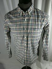 Brooks Brothers Mens Large Multicolored Cotton Graph Check Long Sleeve Shirt EUC
