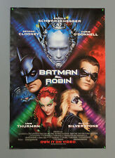 1997 Batman Robin 40x27 movie poster:George Clooney/Batgirl/Poison Ivy/Mr Freeze