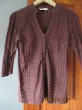 Ladies Atmosphere Brown 3/4 Length Sleeve Shirt in Size 10